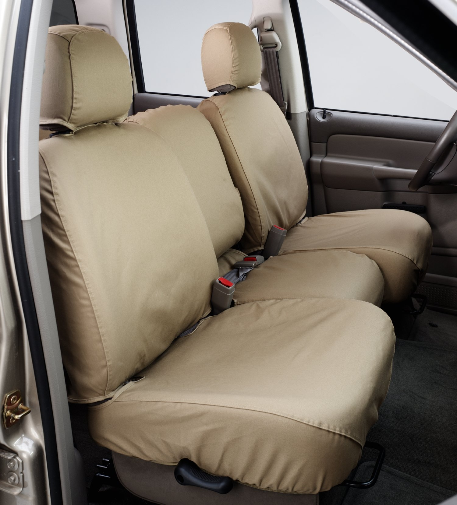 Covercraft SeatSaver Second Row Custom Fit Seat Cover for Select Dodge Ram Pickup Models Polycotton Wet Sand
