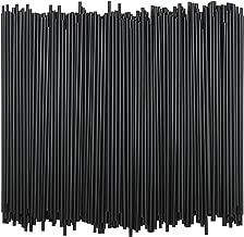 Tall Plastic Coffee Stir Sticks - 7 Inch Coffee Stirrer Sip Straws Black