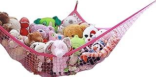 MiniOwls Storage Hammock for Plush Toys (Pink, XL)