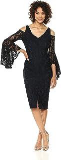 Maggy London Women's Lace Cold Shoulder Cocktail Dress