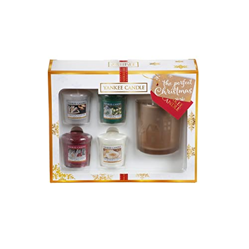 Yankee Candle Coffret Cadeau de 4 Votives/Photophore, Cire, Multicolore