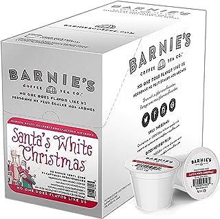 Barnie`s Coffee & Tea Santa`s White Christmas Single Serve Coffee, K cups for Keurig Brewers, Medium Roast, Arabica Coffe ...
