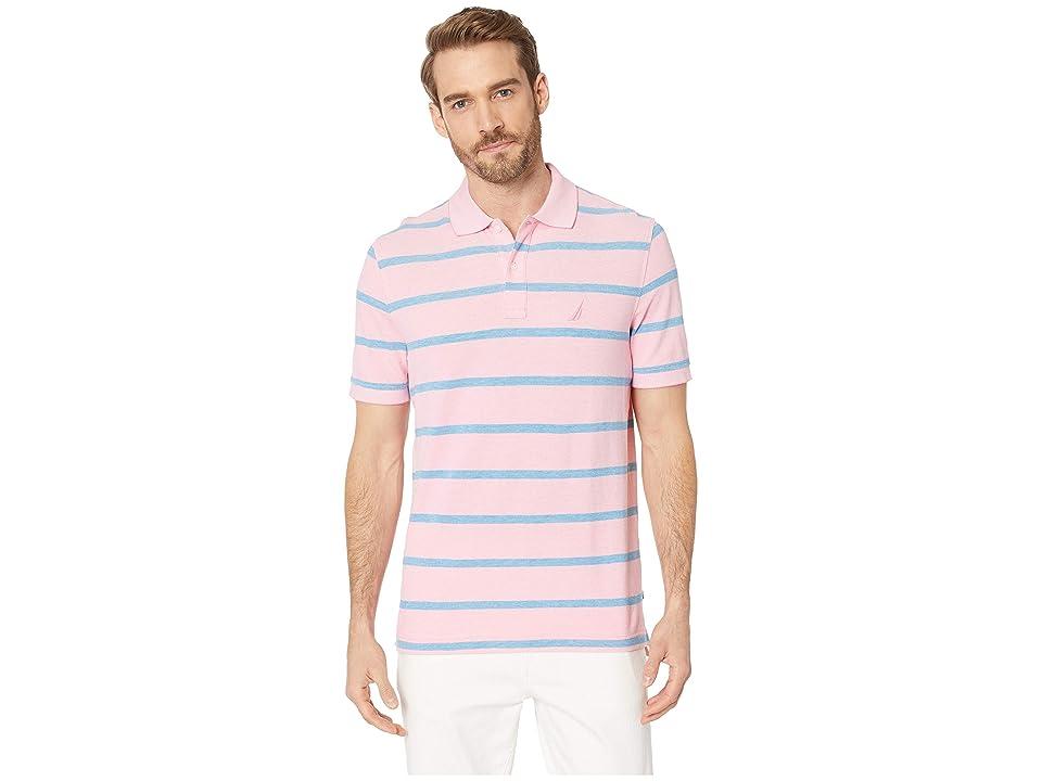Nautica Short Sleeve Kailua Stripe Oxford Shirt (Carnation) Men
