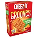 Cheez-It Grooves Crispy Cheese Cracker Chips, Hot & Spicy Cheddar, 9 oz Box