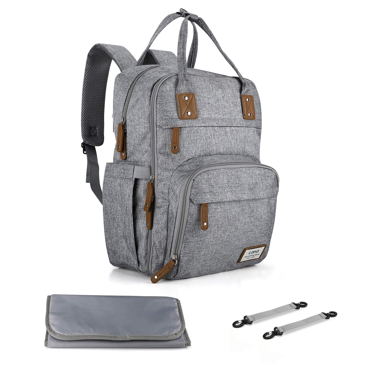 Neutral Diaper Backpack Changing Stroller