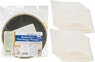 """Aunt Martha's Ballpoint Metal Painting Hoop (10"""") Bundle with Replacement Blotters (12 sheets)"""