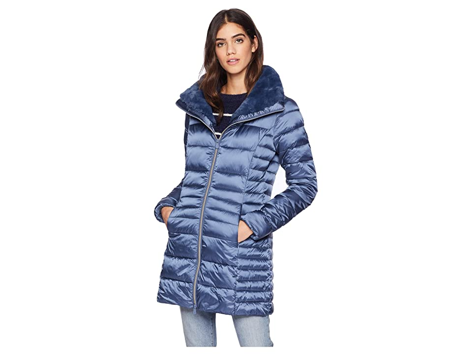 Save the Duck Faux Fur Iridescent Basic (Space Blue) Women