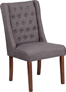MFO Oxford Collection Gray Fabric Tufted Parsons Chair