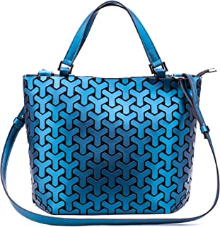 FZChenrry Geometrische Tasche Reflektierende Handtasche Damen Holographic Schultertasche Reflektierende Geometrischer Tasche