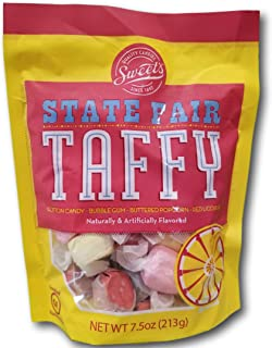 Sweet's State Fair Taffy- Cotton Candy, Bubble Gum, Buttered Popcorn & Red Licorice