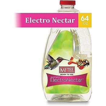 Kaytee 100506148 Ready to Use Hummingbird ElectroNectar, 64 Ounces, Clear