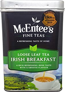 McEntee's Irish Breakfast Tea 500g Tin - vakkundig gemengd in Ierland. Een traditionele Ierse melange van thee uit Ceylon ...