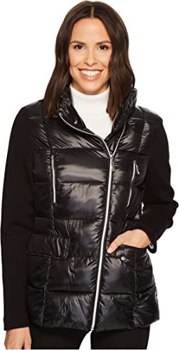 Puffer with Asymmetrical Zippers