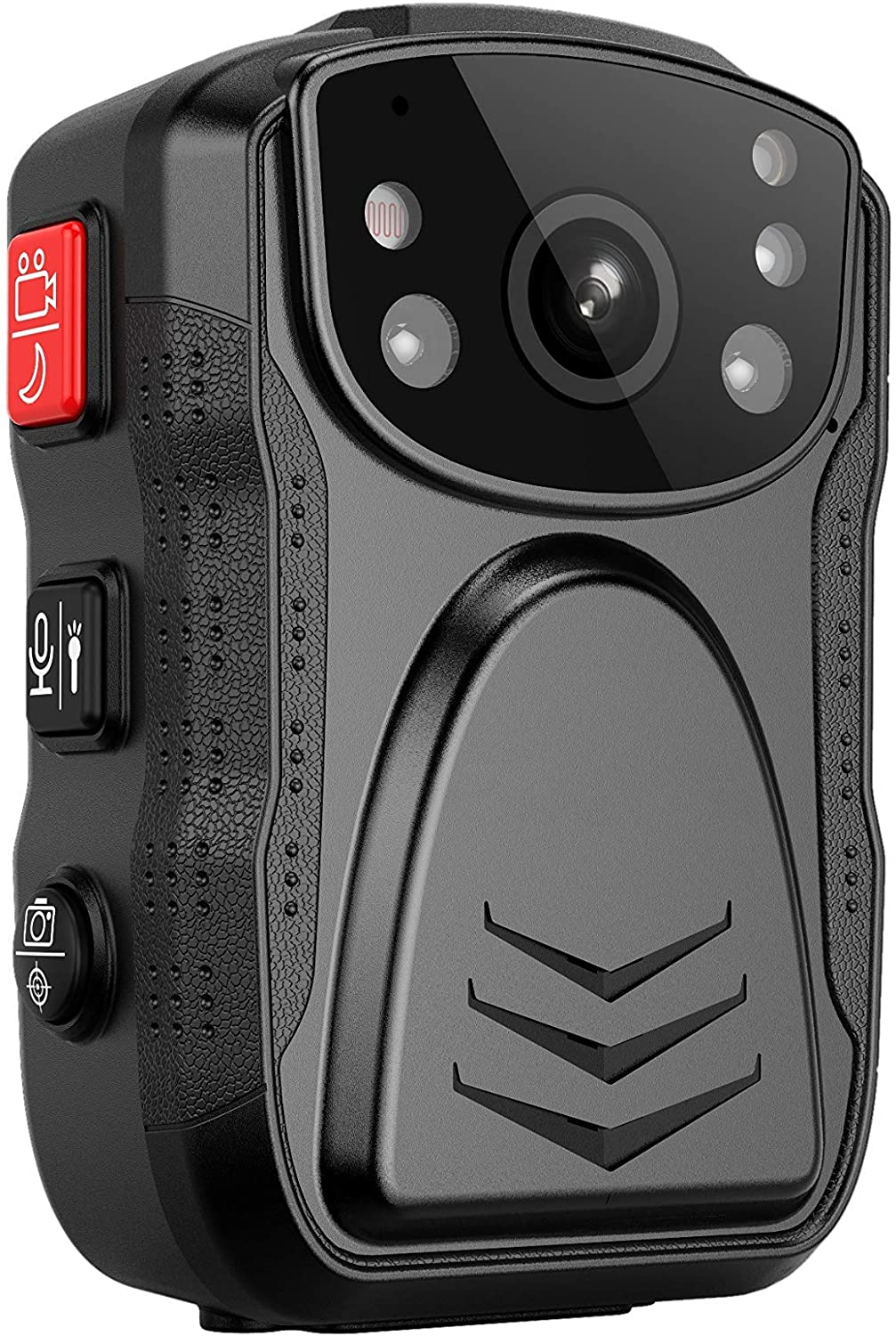 (Latest Gen)PatrolMaster 1296P UHD Body Camera with Audio (build-in 64GB), 2 Inch Display, Night Vision, Waterproof, Shockproof, Body Worn Camera with Compact Design, Police Camera for Law Enforcement