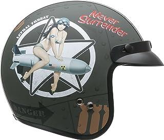 Vega Helmets Unisex-Adult Open Face Motorcycle Helmet (Bombs Away Graphic, X-Small)