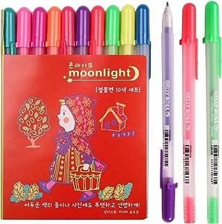 Sakura Pgb10c53 10-piece Gelly Roll Assorted Colors Blister Card Moonlight 10 Bold Point Gel Ink Pen Set