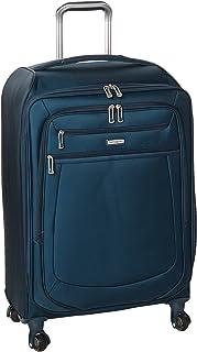 Samsonite Mightlight 2 Softside Luggage with Spinner Wheels, Majolica Blue, Checked-Medium 25-Inch