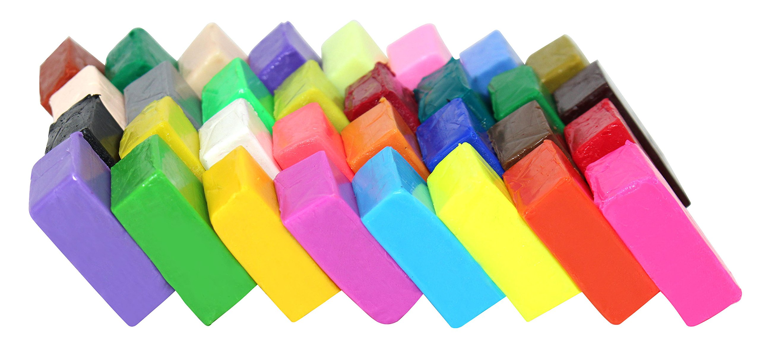 Liyuan moldura adultos proyectos creativos Bloques de arcilla polim/érica de 32 colores para horno para ni/ños efecto fimo
