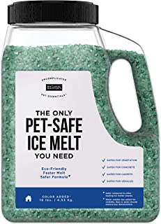 Natural Rapport Pet Friendly Ice Melt - The Only Pet-Safe Ice Melt You Need, Natural Rapport - Time Release Deicer Formula Lasts 3X Longer (10 lbs)