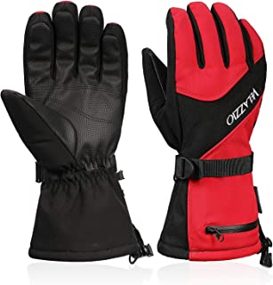 Ski Gloves – VELAZZIO Waterproof Breathable Snowboard Gloves, 3M Thinsulate..