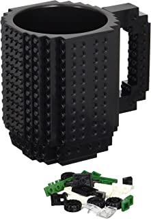 OliaDesign Build-On Brick 12 oz Mug Limited Edition, Black