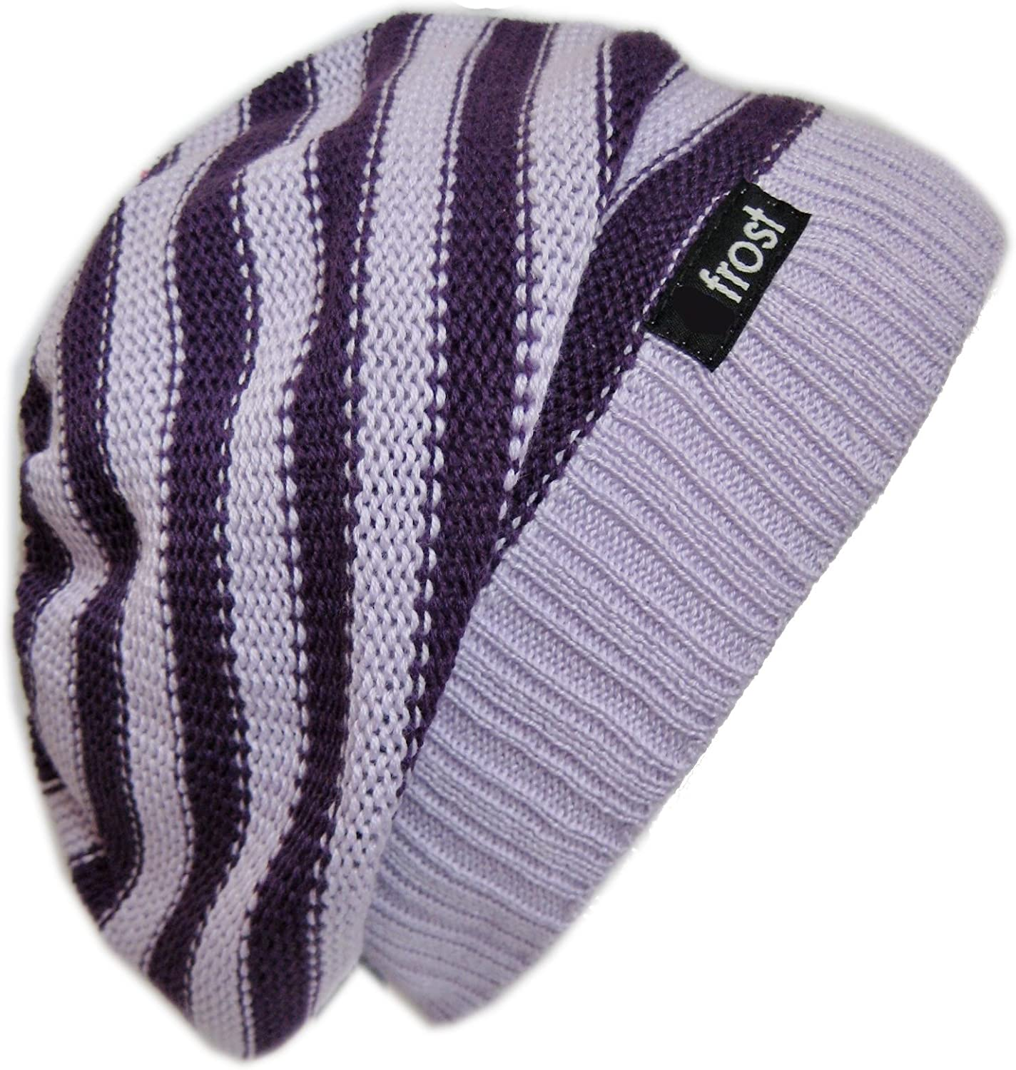 Frost Hats M-147W Slouchy Spring Beanie Striped Oversized Beret