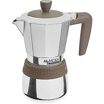 Pedrini MyMoka - Cafetera de inducción Inducción Mymoka 6 Tazze TóRTOLA: Amazon.es: Hogar