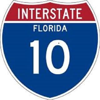 Florida I-10 Gas, Food, Restaurant, Hotel, Rest Area Listing.