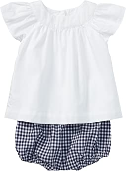 Ralph Lauren Baby - Flutter Sleeve Top & Bloomer Set (Infant)