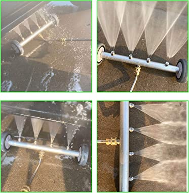 """HYDDNice Pressure Washer Undercarriage Cleaner 16"""" Under Car Water Broom Under Car Power Washer Attachment with 3 Extensi"""