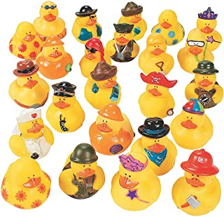 Fun Express - Mega Rubber Ducky Asst (100pc) - Toys - Assortments - 100Pc Assortments - 100 Pieces