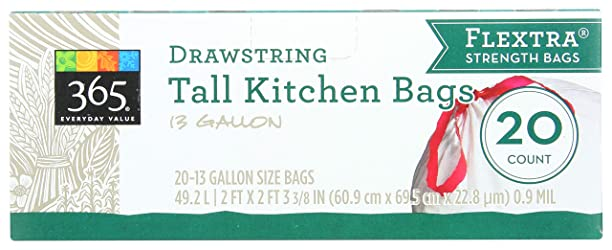365 Everyday Value, Tall Kitchen Bags (13 Gallon), 20 ct