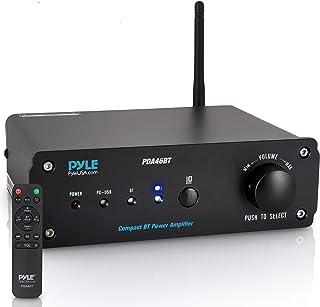 Pyle PDA46BT Mini amplificador audio digital Hifi estereo 2x100 W en clase D con conectividad Bluetooth y USB DAC