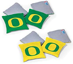 NCAA College Dual Sided Bean Bags by Wild Sports, 8 Count, Premium Toss Bags for Set - Great for Tailgates, Outdoors, Back...