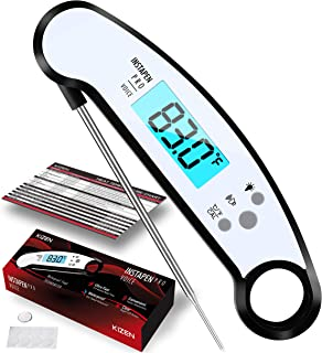 Kizen Instapen Pro Instant Read Meat Thermometer - Best Waterproof Thermometer with Talking Function, Backlight & Calibrat...
