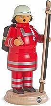 Müller German Incense Smoker red Cross Medic with Stretcher, Height 24 cm / 9 inch, Original Erzgebirge by Mueller Seiffen