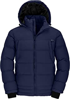 Wantdo Men's Puffer Coat Insulated Windproof Warm Winter Jacket with Hood