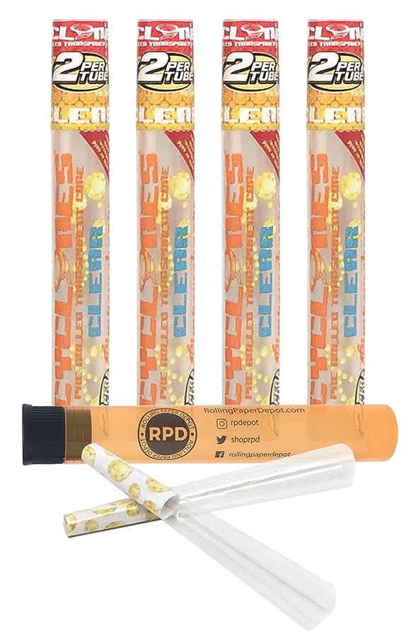勧める時刻表移住する4 Packs Cyclones Pimperschnaps Flavored Pre Rolled Cones Clear with RPD Doob Tube by Cyclones