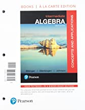 Intermediate Algebra: Concepts and Applications, Books a la Carte Edition Plus MyLab Math with Pearson eText -- Access Card Package (10th Edition)