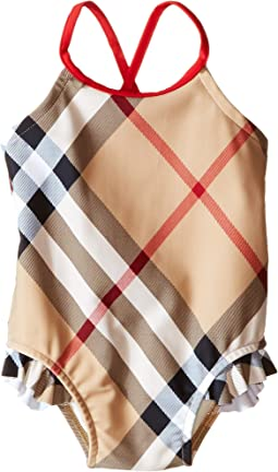 Burberry Kids - Check One-Piece with Solid Trim (Infant/Toddler)
