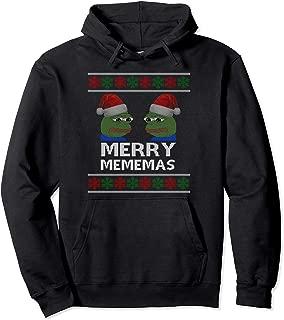 Funny Merry Mememas Pepe Dank Meme Ugly Christmas Pullover Hoodie