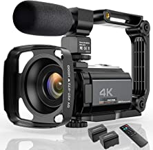 "Video Camera 4K Camcorder Ultra HD 48MP WiFi IR Night Vision Vlogging Camera 3"" IPS Touch Screen 16X Digital Zoom Digital ..."