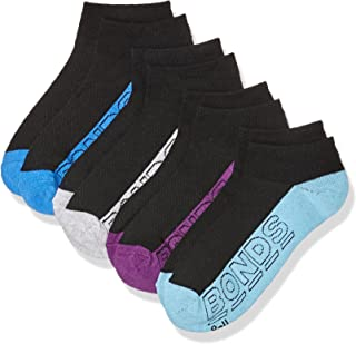 Bonds Women's Cotton Blend Logo Light Trainer Socks (4 Pack)