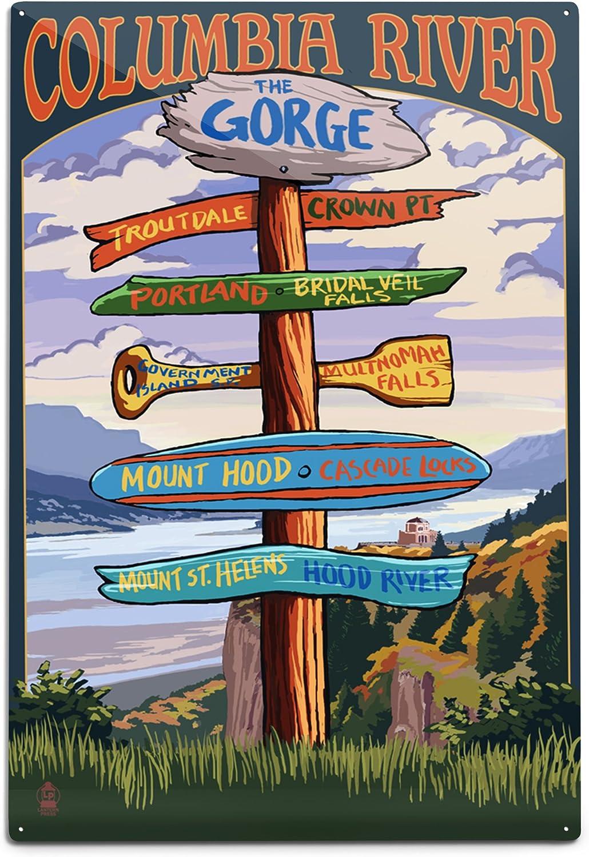 Amazon Com Columbia River Gorge Oregon Destinations Sign 12x18 Art Print Wall Decor Travel Poster Posters Prints