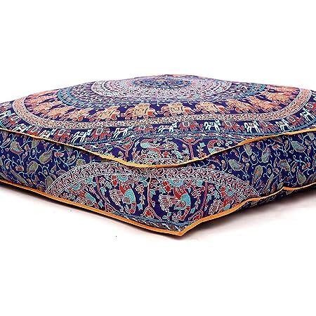 "35/"" Indian Mandala Ombre Square Floor Cushion Cover Boho Meditation Pillow Case"