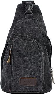 PsmGoods® hombres hombro bolsa de viaje Ocio bolsillo de la lona Senderismo Mochila pecho bolsa Sling