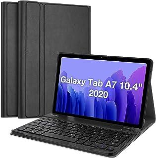 حافظة حماية مزودة بكيبورد لجالكسي تاب A7 10.4 انش 2020 من بروكيس (SM-T500 T505 T507)، غطاء واقي مع كيبورد لاسلكية قابلة لل...
