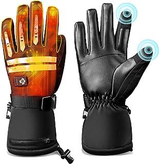 Sponsored Ad - Battery Heated Gloves for Men Women, EEIEER Waterproof Hand Fingers Warmer Electric Rechargeable Thermal Wa...