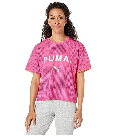 PUMA Chase Mesh Tee (Fuchsia Purple) Women