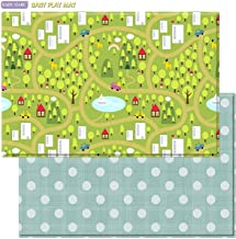 Baby Care Play Mat - Playful Collection (Large, Country Town Blue)